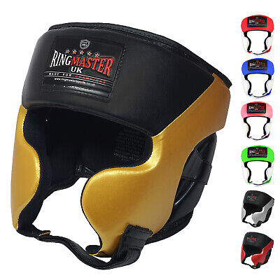Kids Head Guard Gear Boxing MMA Martial Arts Protector Kick RingMaster UK