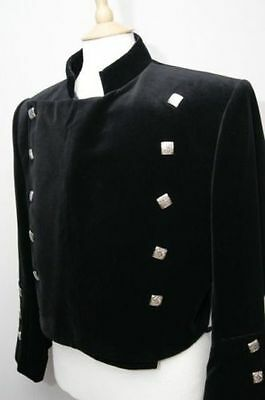 """Black Montrose jacket for men made to order sizes 34"""" to 56"""" chest"""