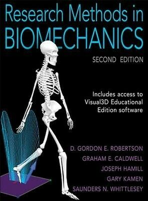 Research Methods in Biomechanics by D. Gordon E. Robertson Hardcover Book (Engli