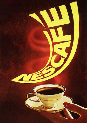 Home Wall Art Print - Vintage Advertising Poster - NESCAFE - A4,A3,A2,A1