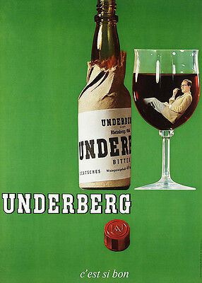 Home Wall Art Print - Vintage Advertising Poster - UNDERBERG - A4,A3,A2,A1