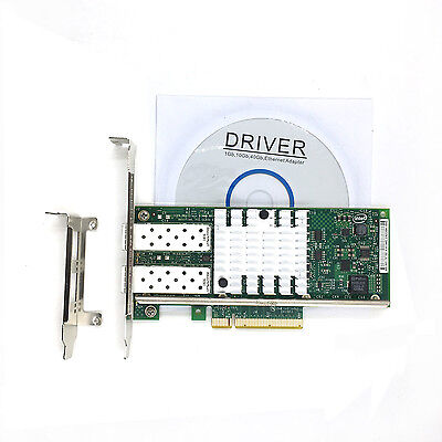 Intel X520-DA2 10 Gigabit 10GBe SFP+ Dual Port Ethernet Server Network Adapter