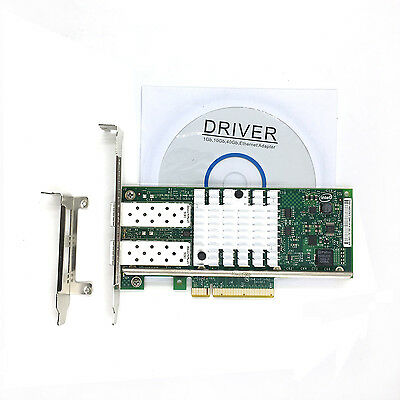 Intel X520-DA2 10 Gigabit 10GBe SFP Dual Port Ethernet Server Network Adapter