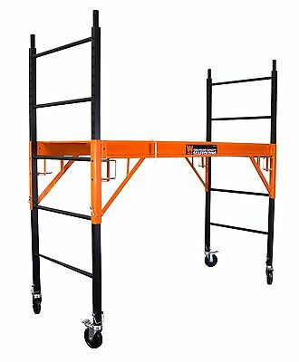 WEN 31109 1000-Pound-Capacity Rolling Industrial Scaffolding