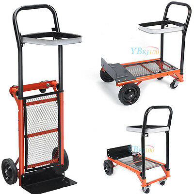 New H Duty Folding Truck Hand Sack Cart Garden Barrow Platform Trolley Carriage