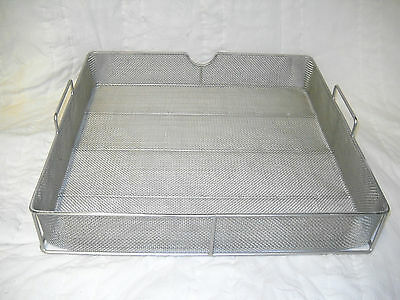 "Basket, Parts washing, 18"" x 18"" x 2.5"" fine mesh, 5003011, sent UPS 3 day"