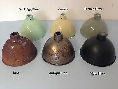 Cast Iron Hanging Pendant Lamp Shade Light Vintage Industrial Salvage Style Rust