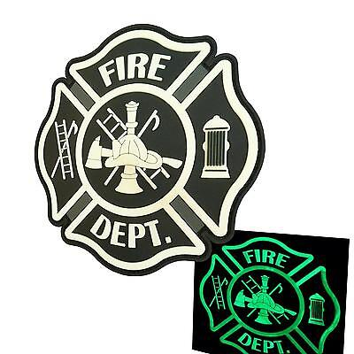Fire Fighter Department PVC glow dark ACU morale aufnäher hook-and-loop patch
