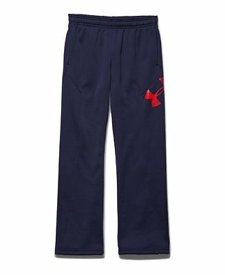 Under Armour Boys Storm Armour Fleece Big Logo Pants Black/Risk Red/Risk Red S