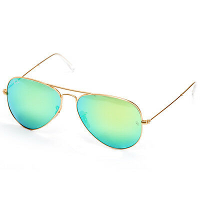 Ray-Ban Aviator Sunglasses 58mm (Gold Metal / Green Flash)
