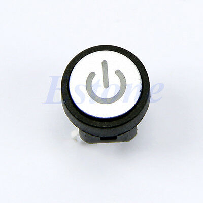 Blue Led Light Power Symbol Push Button Computer Case Switch Momentary Latching