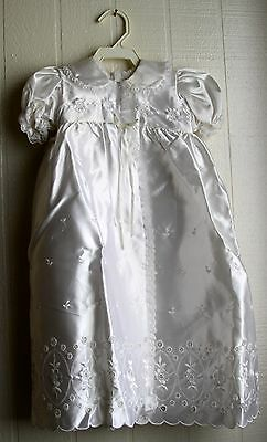 Baby Girl CHRISTENING Lace Satin Outfit Gown Baptismal Phyllis Baby wear 3 piecs