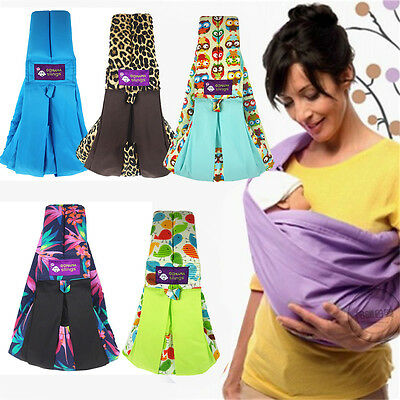 Adjustable Stretchy Infant Baby Carrier Breastfeed Birth Sling Cotton Backpack