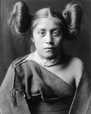 New 8x10 Native American Photo: Tewa North American Indian Girl - c. 1906