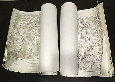 Vintage Military Maps  Lot of 100+ Maps Great Condition. Made For Military Use