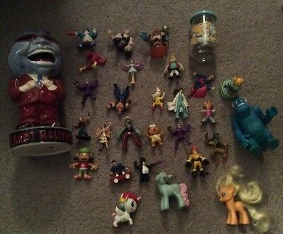 Planet Hollywood Ceramic Mascot Vase + 20+ PVC Figures w/ My Little Pony & More