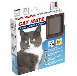 Cat Mate 4 Way Locking Pet Door Cat Flap - Suitable For Metal Security Screens