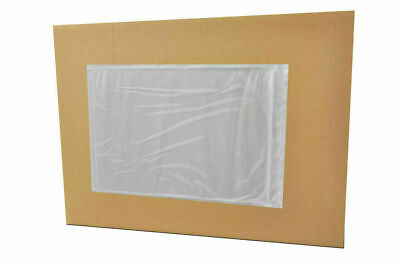 "1000 Clear Faced Packing List Envelopes 5.5"" x 10"" Self Adhesive Super Sticky"