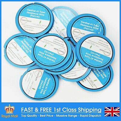 The Crazy Wire Company's Range Of Premium Kanthal A1 (FeCrAl Alloy) Round Wires