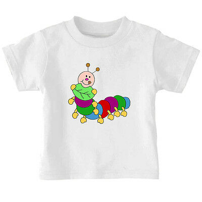 Cute Green Caterpillar Cotton Toddler Baby Kid T-shirt Tee 6mo Thru 7t