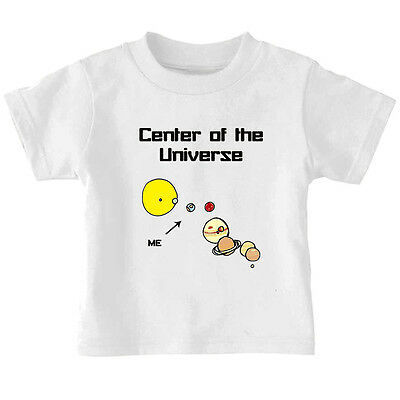 Me Center Of The Universe Planets Toddler Baby Kid T-shirt Tee 6mo Thru 7t