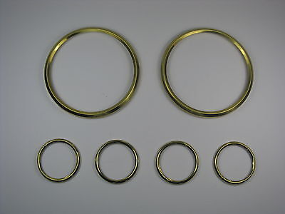 Jaguar E Type Smiths Instrument Brass Bezel Set Early