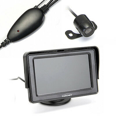 "4.3"" TFT Wireless Car LCD Rearview Monitor Kit Reverse Backup Parking Camera"