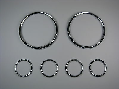 Jaguar E Type Smiths Instrument Chrome Bezel Set Early Not Original