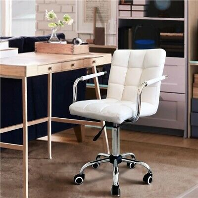 Faux/PU Leather High Back Office Chair Executive Task Ergonomic Computer Desk UK