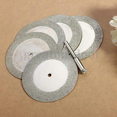 5Pcs 50mm 2 inch Diamond Cutting Disc Coated Rotary Grinding Cut Off Blade Wheel