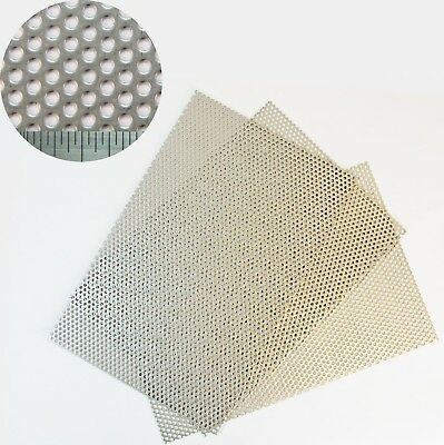 3mm Hole-5mm Pitch-1mm Thickness -SS304-Perforated Mesh Sheet-150 x 150mm Sheet