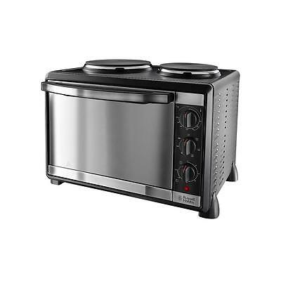 Russell Hobbs 22780 Mini Kitchen Oven Multi-Cooker with 2Hotplates Burner,1600W