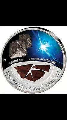 2012  Meteorites Cosmic Fireballs Pure Silver Coin Mintage 999 USA