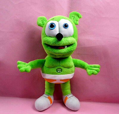 "Green Singing I AM A GUMMY BEAR MUSICAL Gummibar Soft Plush doll toy 12"" 30cm"