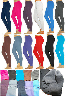 Fleece Kinder Thermo Mädchen Leggings l Hose Baumwolle
