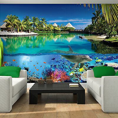 Photo Wallpaper DOLPHINS PARADISE NATURE Wall Mural (3356VE)