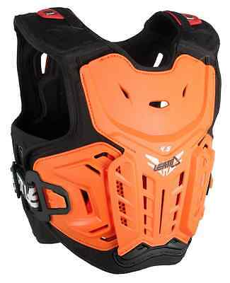 New Leatt Youth Junior Orange 4.5 Hardshell Offroad Chest Protector Vented Mx Sx