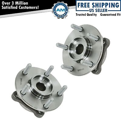 Front Wheel Hub & Bearing Pair Assembly Set for 3000GT Lancer Evo w/ AWD