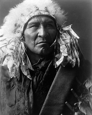 New 11x14 Native American Photo: Bread, an Apsaroka Indian - Crow Nation - 1908