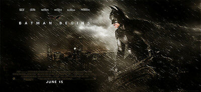Home Wall Art Print -Vintage Movie Film Poster- BATMAN BEGINS -A4,A3,A2,A1