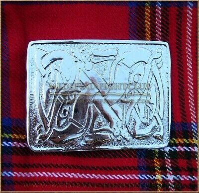 Scottish Highland traditional Celtic Dog Kilt Belt Buckle