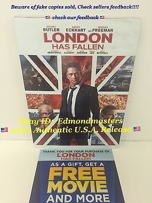 London Has Fallen 2016 DVD Brand New 100% AUTHENTIC (BEWARE OF CHEAP FAKES SOLD)