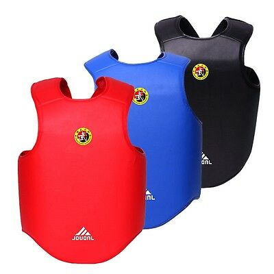 New Chest Body Protector Guard MMA Armour Muay Thai Kick Karate Boxing M L XL
