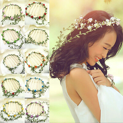 Chic Bridal Flowers Wedding Head Wreath Crown Headband Beach Travel Photography