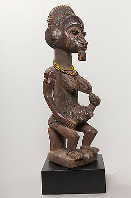 Baule, Seated Maternity Figure, Ivory Coast, African Tribal Arts.