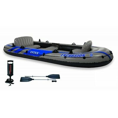 Intex Rubber dinghy EXCURSION 5 Set for 5 Person 68325. Blue/Grey