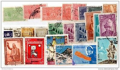 Nepal Collection of 23 Values VFU X2700