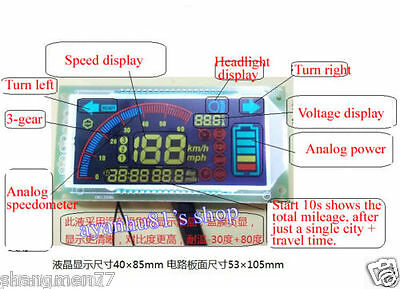 48V 60V Multifunction Voltmeter Thermometer Speedometer Für Car Electric Bicycle