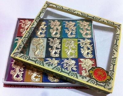 Chinese old carving tribal dragon 15 color solid calligraphy ink stick