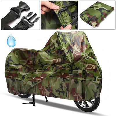 XL Large Waterproof Motorcycle Scooter Rain Vented Outdoor Motorbike Cover + Bag